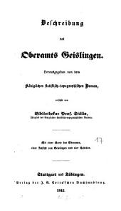 Beschreibung des Oberamts Geislingen