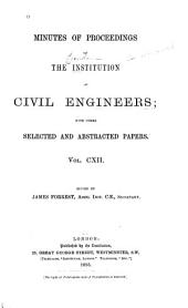 Minutes of Proceedings of the Institution of Civil Engineers: Volume 112