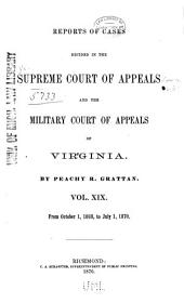Cases Decided in the Supreme Court of Appeals of Virginia: Volume 60