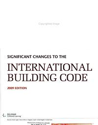 Significant Changes to the International Building Code Book