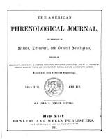 American Phrenological Journal and Repository of Science  Literature  and General Intelligence PDF