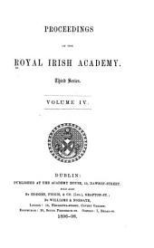Proceedings of the Royal Irish Academy: Volume 4; Volume 20