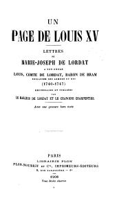 Page de Louis quinze
