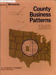County Business Patterns Minnesota Book PDF