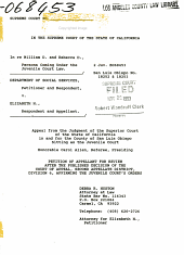 California. Supreme Court. Records and Briefs: S036234, Petition for Review