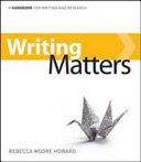 Writing Matters  A Handbook for Writing and Research