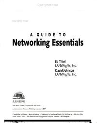 A Guide to Networking Essentials PDF