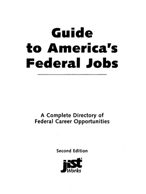 Guide to America s Federal Jobs PDF