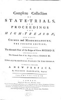 A Complete Collection Of State Trials And Proceedings For High Treason And Other Crimes and Misdemeanours PDF