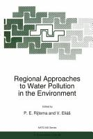 Regional Approaches to Water Pollution in the Environment PDF