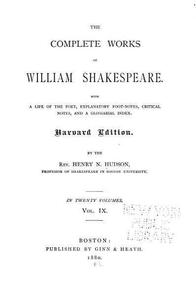 Download The Complete Works of William Shakespeare  Henry VI  pt  3  Richard III Book