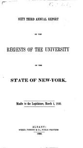 Annual Report of the Regents: Volumes 63-64
