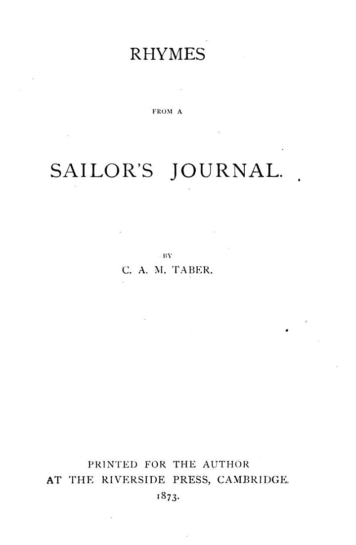 Rhymes from a Sailor's Journal