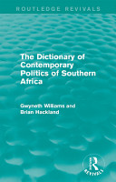 The Dictionary of Contemporary Politics of Southern Africa PDF