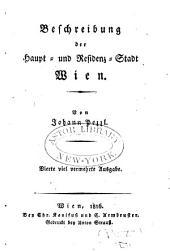 Beschreibung der Haupt- und Residenz-Stadt Wien