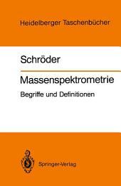 Massenspektrometrie: Begriffe und Definitionen