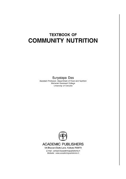 Textbook Of Community Nutrition