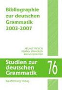 Bibliographie zur deutschen Grammatik PDF