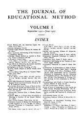 Educational Method: Volume 1