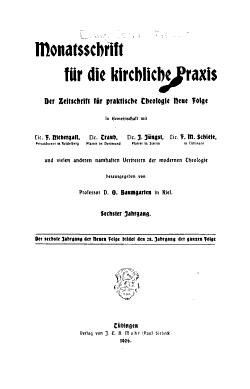 Monatsschrift f  r die kirchliche Praxis PDF