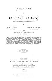 Archives of Otology: Volume 8