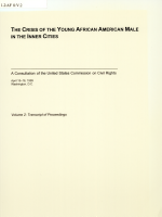 The Crisis of the Young African American Male in the Inner Cities: Transcript of proceedings