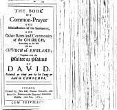 The Book of Common-Prayer, Etc