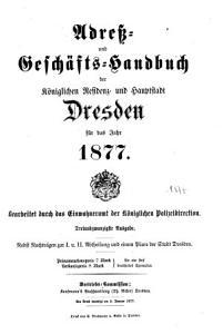 Adre    und Gesch  fts Handbuch der k  niglichen Residenz  und Hauptstadt Dresden PDF