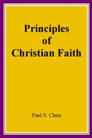 Principles of Christian Faith PDF