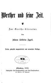 Werther und seine Zeit: zur Goethe-literatur