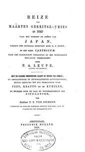 Reize van Maarten Gerritsz: Vries in 1643 naar het noorden en oosten van Japan