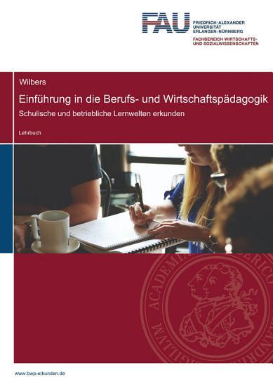 Einf  hrung in die Berufs  und Wirtschaftsp  dagogik PDF