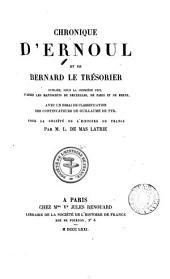 Chronique d'Ernoul et de Bernard le Trésorier