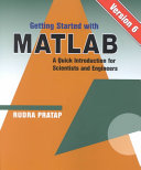 Getting Started with MATLAB PDF
