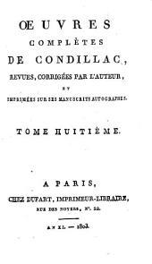 Œuvres complètes de Condillac: La grammaire