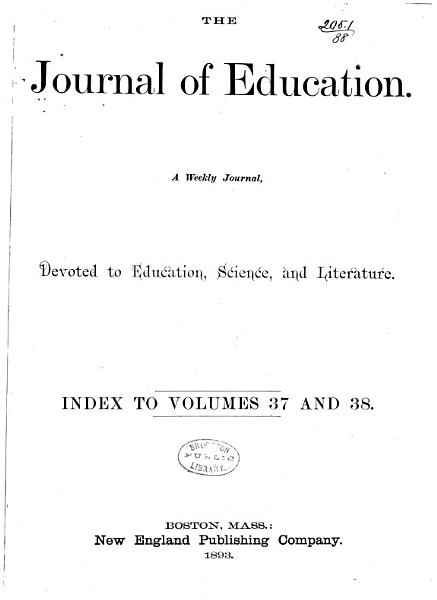 Download The Journal of Education Book