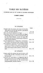 Bulletin historique trimestriel: Volume7