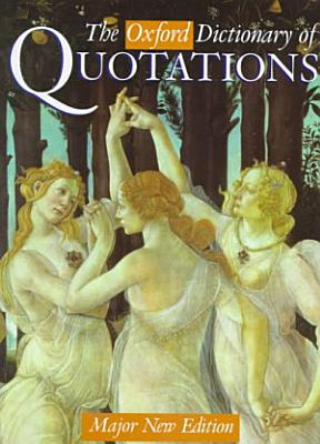 The Oxford Dictionary of Quotations PDF