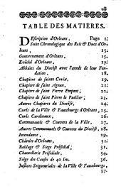 Détail historique de la ville d'Orléans, qui contient une description abrégée de cette ville, l'état exact de ses differens chapitres, communautés, corps, juridictions et autres établissemens ; la compétence des differens tribunaux : un mémoire sur les mé