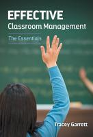 Effective Classroom Management   The Essentials PDF