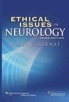 Ethical Issues in Neurology PDF