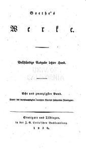 Goethe's werke: Band 28
