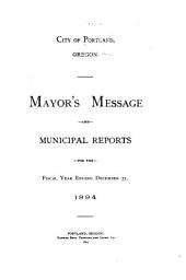 Mayor's Message and Annual Reports ...