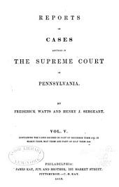 Reports of cases adjudged in the Supreme court of Pennsylvania: Volume 41