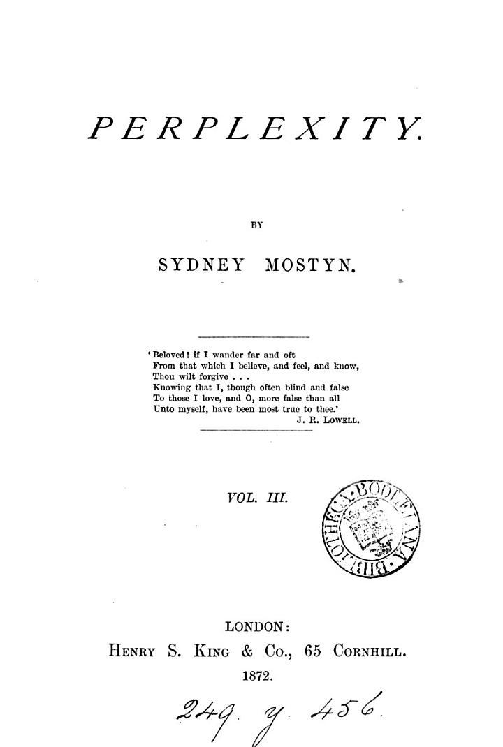 Perplexity, by Sydney Mostyn