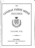 Canadian Patent Office Record PDF
