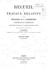 Recueil de travaux relatifs à la philologie et à l'archeologie égyptiennes et assyriennes: Volume21