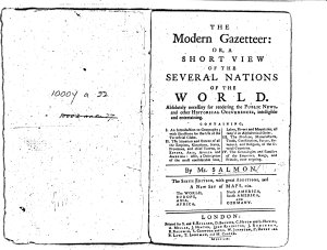 The Modern Gazetteer PDF