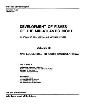Development of Fishes of the Mid Atlantic Bight PDF