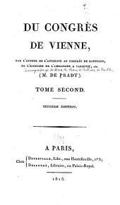Du Congrès de Vienne: Volume2